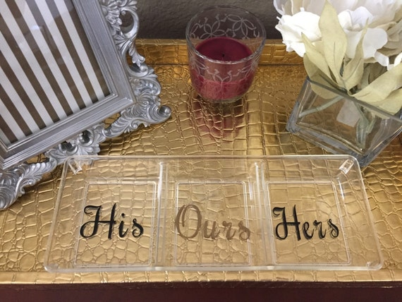 His Hers Wedding Gift Ideas : gift, wedding gift, customized his and hers tray, bridal party gift ...