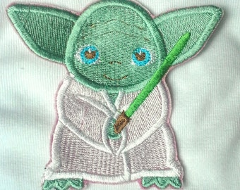 Yoda Star Wars Patch - Iron on - Embroidered