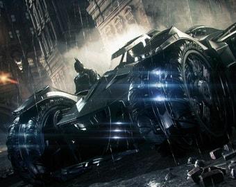 Batman Arkham Knight Batmobile 2014 HD Game Poster Wall Decoration Art Working No Framed