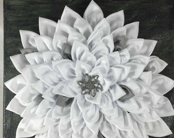 Fabric Flower Wall Decor