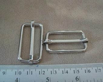 10 Pcs, 1.25 inch. (3.2 cm./32 mm.) (inner) Nickel Strap Slider, Strap Adjuster Slider, Bag & Purse Hardware.