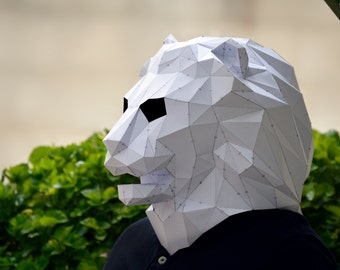 Make Your Own Lion Mask.   Lion Mask   Lion Costume   animla mask   papercraft   halloween mask   Lion king   Paper Animal