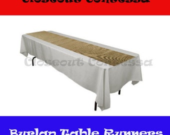 Natural Burlap Table Runner for Weddings, Parties and Social Events - Multiple Sizes/Discount Price
