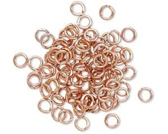 Copper Jump Ring, Copper Plated, 4mm jump ring, aluminum jump ring, 4mm, 20 gauge, 50 each, D406