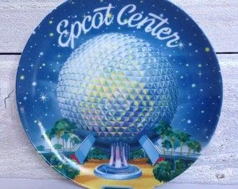 Vintage Disney Epcot Center Souvenir Plate - Misprint