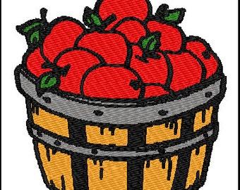 Apple Barrel Fall Embroidery Design