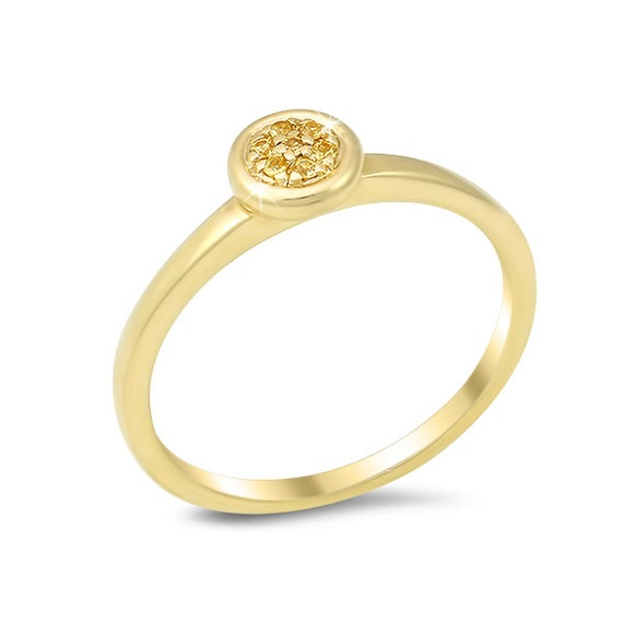 items similar to simple stackable promise ring w yellow