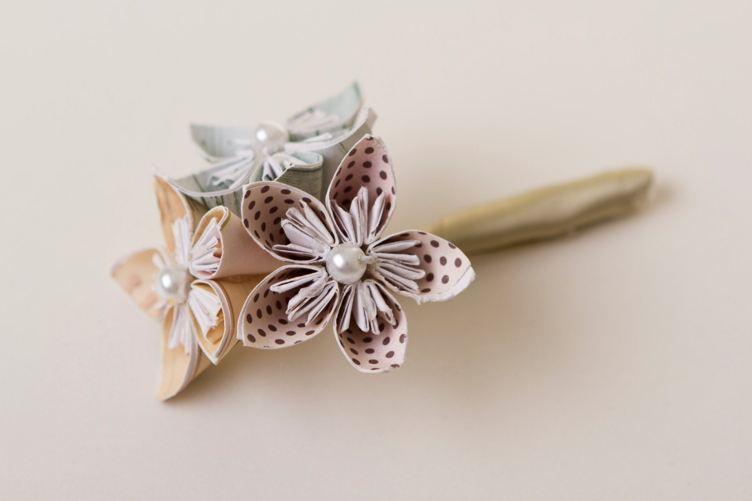Origami Wedding Boutonni Re Origami Flowers Kusudama