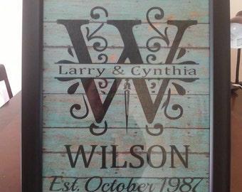 11x14 Personalized Frames