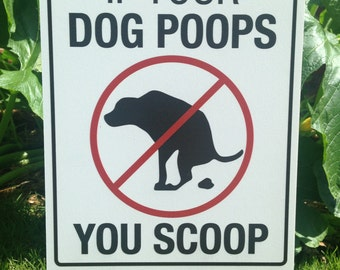 If Your Dog Poops You Scoop