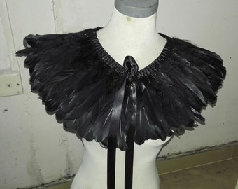 Handcrafted 2-layer goose feather cape # CC12012