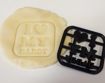 I Love My Daddy Cookie Cutter - Father's Day Cookie