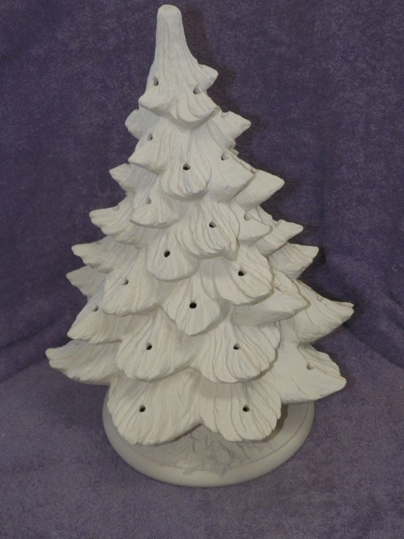 Nowell 342 ceramic christmas tree with base bisque for Ceramic based paint