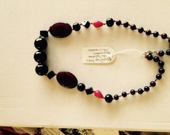 Real Multi Gem Agate, Onyx and Jade Necklace