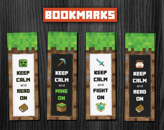 Free printable minecraft bookmarks car interior design for Minecraft bookmark template
