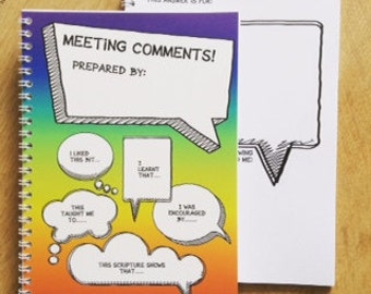 Kids Meeting Comments Book - JW Gift,