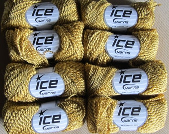 ICE YARNS, acrylic, polyester, 8 x 50gm balls, 150m, Colour Gold, Mailed from Canada