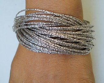 traditional design silver bangle bunch bracelet cuff rajasthan india