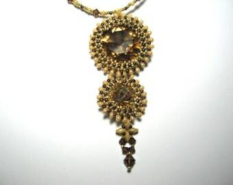 Swarovski Crystal Twin Rivoli Necklace.