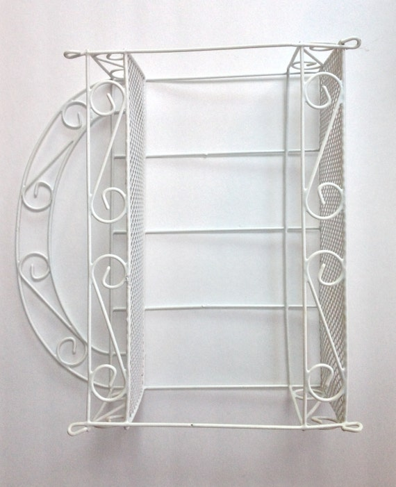 white metal wall wire shelf2 shelves ideal for kitchen