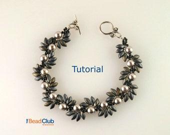 Right Angle Weave Patterns - Beaded Bracelet Patterns - Beading Tutorials and Patterns - Beadweaving Tutorial - Spiky Spiral Bracelet