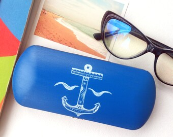 Box for glasses anchor - anchor inspired - anchor gift- anchor art - gift for boydriend - anchor case
