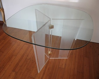 Mid- Century Modern  Lucite Dining Table .