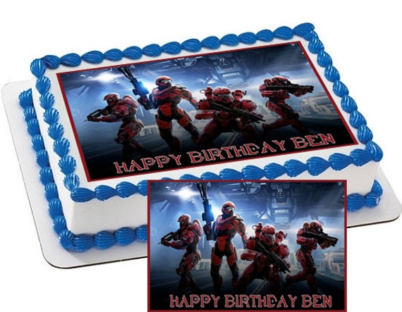 Edible Cake Images Halo : Halo 5 Guardians Edible Cake & Cupcake by CakeTopperSpecialist