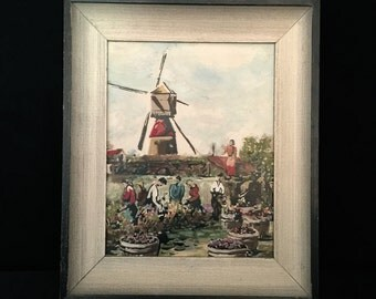 A Vintage Mid Century Framed Painting                                                              VG1555