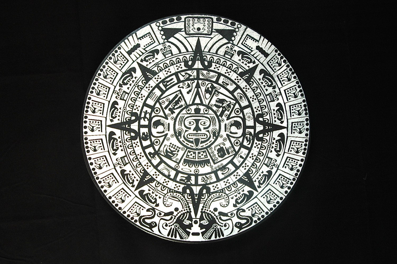 Calendar Art Piece : Mayan calendar wall art home decor piece of the by