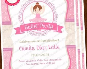Ballet Invitations, Ballerina Party, Ballet Party, Ballet Birthday