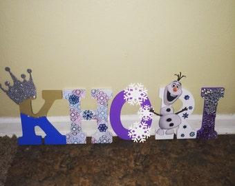Frozen Wooden Letters