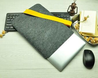 Felt 12 inch Macbook sleeve, Macbook 12 case, Macbook 12 sleeve, macbook sleeve, macbook air case, laptop sleeve, case BN007