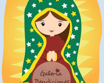 Retablo de Virgen de la Guadalupe