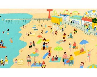 Print / Coney Island Beach Day
