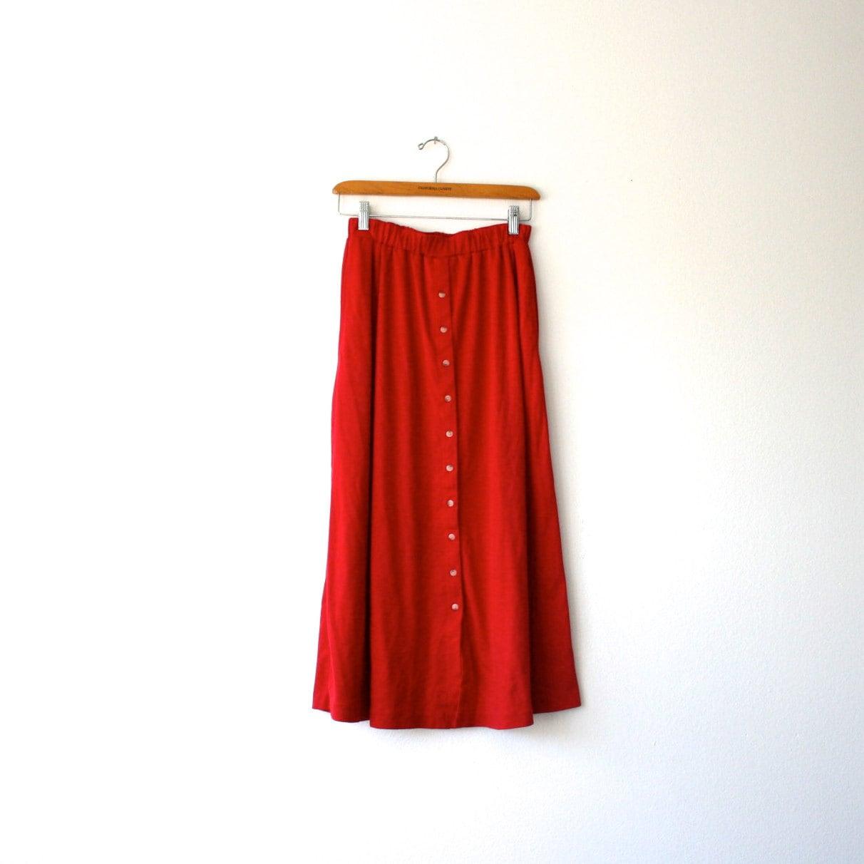 high waisted button maxi skirt