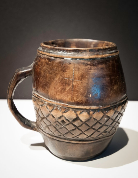 Antique Hand Carved African Mandinka Drinking Cup
