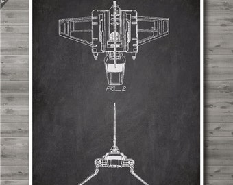 Imperial Shuttle poster, Imperial Shuttle patent, Imperial Shuttle print, Imperial Shuttle Art, Imperial Shuttle Wall Decor no95