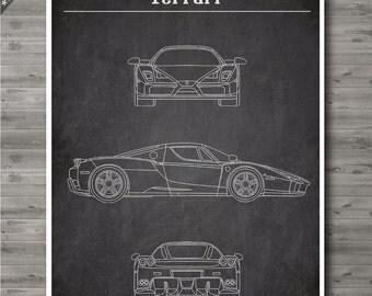 Ferrari poster, Ferrari Patent, Ferrari print, Ferrari Art, Ferrari Wall Decor no106