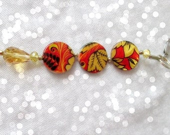 Beaded Zipper Pull, Purse jewelry, Wire Beads, Butterfly Zipper Pull, Bag Beads