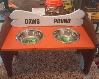 Cleveland Browns Raised Dog Feeder