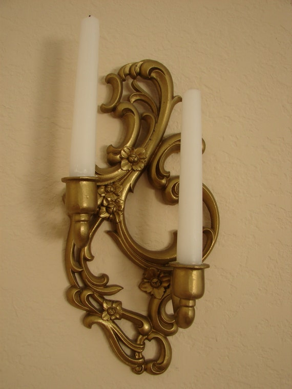 SEXTON Cast Iron Wall Sconces Cast Iron by BackStageVintageShop