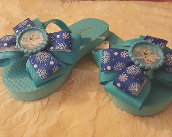 Olaf Over The Top Bow Flip Flops