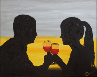 """TOGETHER, 20x16"""" oil painting"""