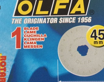 Olfa Rotary Cutter Replacement Blade 45mm RB45-1, Fabric Cutting Blade, Craft Blade