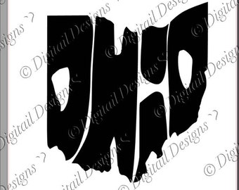 Ohio State Word Art SVG PNG Cut File