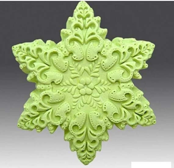 ... fondant cake mold silicone soap mold 3D Star of David Snowflake FM331