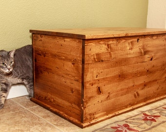 Shaker Style Chest Litter Box Cover