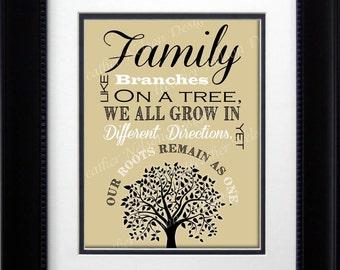 Beige Family Tree Print- DIGITAL