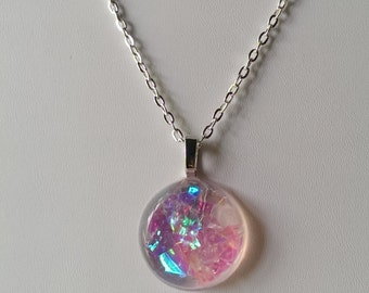 Pink Resin Necklace